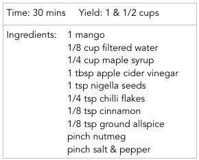 chutney ingredients